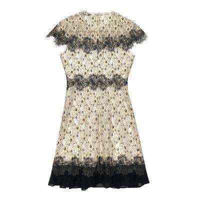 flower lace dress white